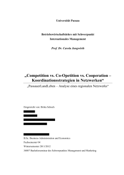 Competition vs. Co-Opetition vs. Cooperation