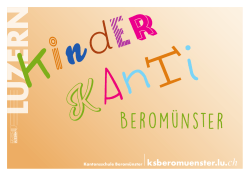 Kinderkanti Beromünster Flyer