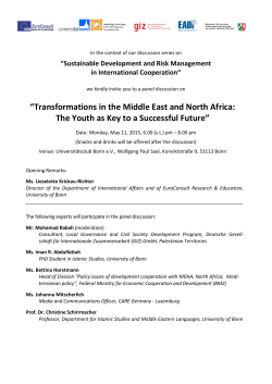 """Transformations in the Middle East and North Africa: The Youth as"