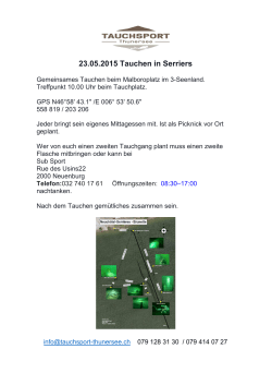 Flyer Tauchen in Serriere