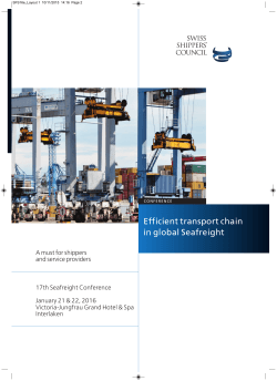 Efficient transport chain in global Seafreight