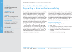 Organizing – Kommunikationstraining