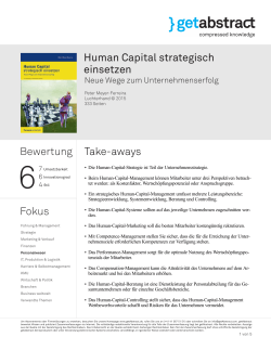 Human Capital strategisch einsetzen Bewertung Fokus Take
