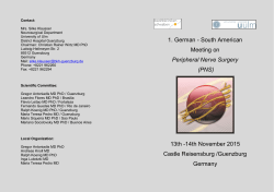1. German - South American Meeting on Peripheral Nerve Surgery