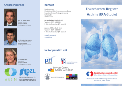 Erwachsenen-Register Asthma (ERA-Studie)