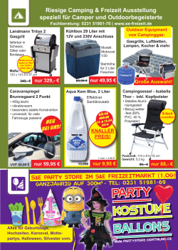 Camping & Freizeit Equipment und Party Store PDF