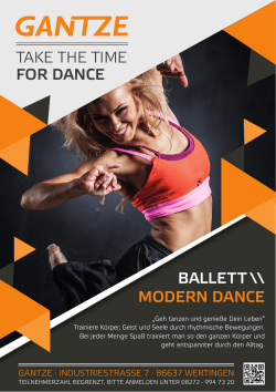 take the time for dance ballett \\ modern dance