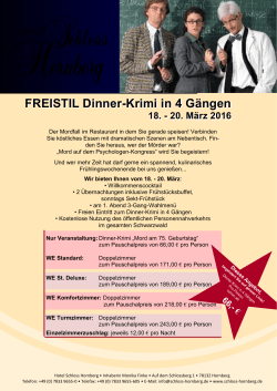 FREISTIL Dinner-Krimi in 4 Gängen