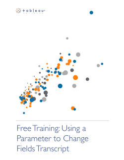 Free Training: Using a Parameter to Change Fields