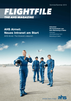 AHS Airnet: Neues Intranet am Start