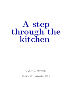A step through the kitchen