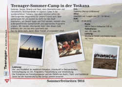 Teenager-Sommer-Camp in der Toskana