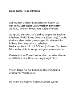disney-info-star wars.indd - Capitol Cinema Center Werne
