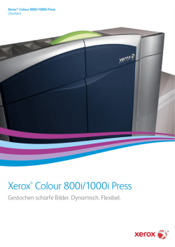 Broschüre – 800i/1000i Colour Press