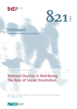 Terminal Decline in Well-Being: The Role of Social Orientation