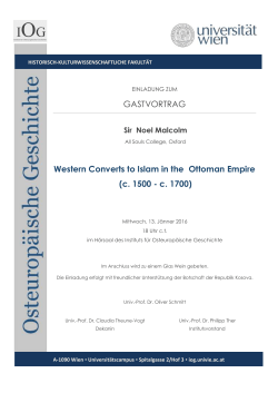 Western Converts to Islam in the Ottoman Empire