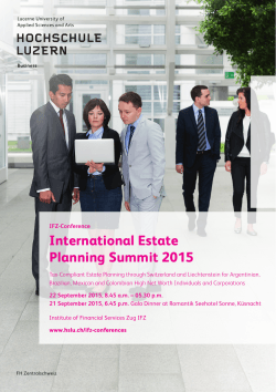 International Estate Planning Summit 2015