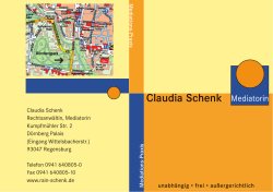 Claudia Schenk Mediatorin