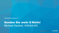 Newslettermarketing 2.0 Horizont Wissen.key