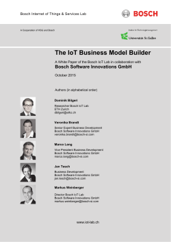 The IoT Business Model Builder