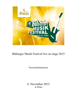 Bitburger Musik Festival live on stage 2015 6