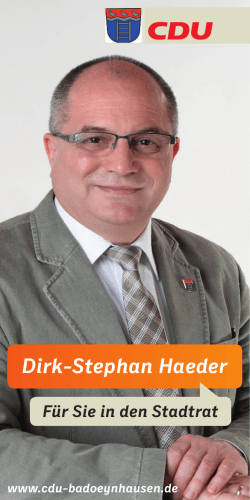 Dirk-Stephan Haeder - CDU Stadtverband Bad Oeynhausen