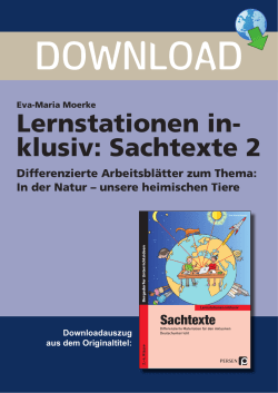 Lernstationen in- klusiv: Sachtexte 2