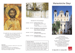 Flyer der Marienkirche September 2015 - Jänner