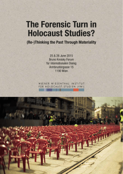 The Forensic Turn in Holocaust Studies?
