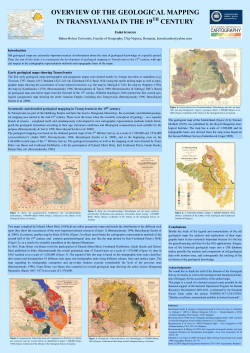 OVERVIEW OF THE GEOLOGICAL MAPPING IN TRANSYLVANIA