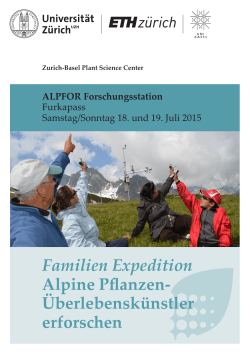 Flyer Familienexpedition Basel 2015