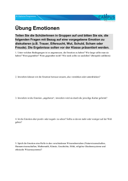 Übung Emotionen
