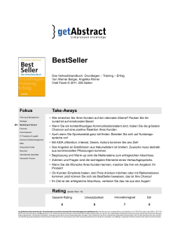 getabstract Bewertung PDF - Werner Berger & Partner AG