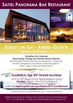 sunset on top - abend glüh`n sattel panorama bar restaurant