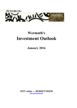 Wermuth`s Investment Outlook - January 2016
