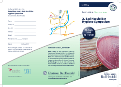 Flyer - Klinikum Bad Hersfeld