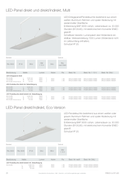 LED-Panel direkt/indirekt, Eco-Version LED