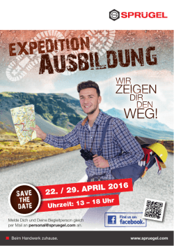 Informationsflyer zur Expedition Ausbildung als PDF