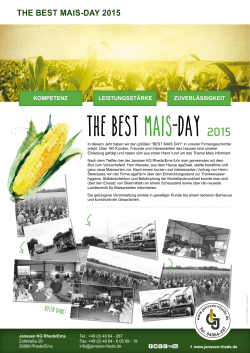 The best Mais Day 2015