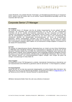 Corporate Senior LTI Manager