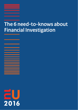 Brochure: The 6 need-to-knows about Financial Investigation