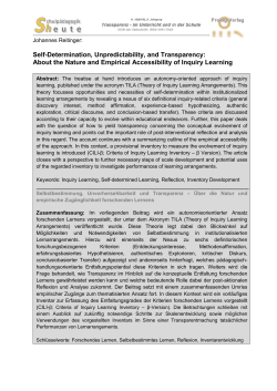 About the Nature and Empirical Accessibility of Inquiry Learning