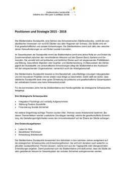 Positionen und Strategie 2015 - 2018