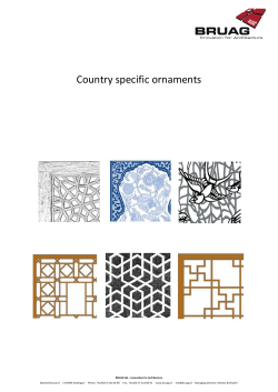 Country specific ornaments