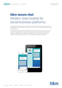 ti&m secure chat Modern chat-module for social business platforms.