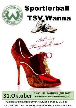Sportlerball TSV Wanna