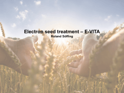 Electron seed treatment – E-VITA