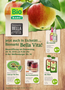 Biomarkt Bella Vita!