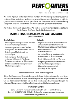 marketingberater/-in automobil