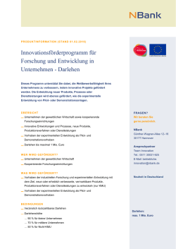 Produktinformation Innovationsförderprogramm für